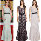 New Women Lace Dress Sleeveless Sexy Evening Party Long Dress Cocktail Dress
