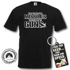 Top Gun T-Shirt and Keyring Giftset - Missiles - Medium- Black