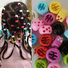Mixed Colour Ponytail Hair Braiding Beads Clips Claw Grips Pony Tail Plait Braid