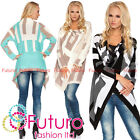 Womens Asymmetric Cardigan Thick Heavy Knitted Poncho Sweatc