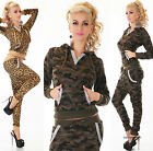 Sexy Women's 2-Piece Full Tracksuit Joggings With Hoodie Chino Pants Suit Hot