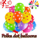"30 -100 12""inch LARGE PINK BALLOONS helium POLKA DOT BALOONS Party Birthday"