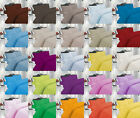 PLAIN DUVET COVER SET WITH PILLOW CASE QUILT COVER IN ALL SIZES