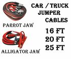 Heavy Duty 16ft, 20ft, 25ft Car Battery Booster Jumper Cables - 2, 4, 8 Gauge
