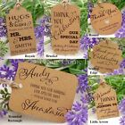 Personalised Kraft Wedding Favour Tags/ Thank You Tags/ Gift Tags with Twine II