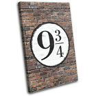 Kings Cross Platform 9 3/4  Typography CANVAS WALL ART Picture Print VA