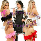 FEATHER BOA QUALITY RED WHITE PINK BLACK BLACK N WHITE PACK OF 10