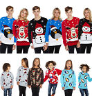 CHILDRENS KIDS WINTER CHRISTMAS JUMPER SWEATER REINDEER SANTA PENGUIN SNOWMAN