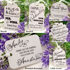 Personalised White Wedding Favour Tags/ Thank You Tags/ Gift Tags with Twine II