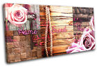 Home Wood Natural Collage  Abstract CANVAS WALL ART Picture Print VA