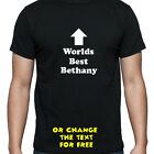 PERSONALISED WORLDS BEST BETHANY T SHIRT BIRTHDAY GIFT
