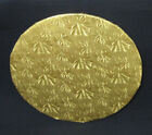 "Round Gold Foil Cake Fold-under Board, 1/2"" Thick - PACK of 6"