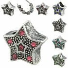 Bulk Sale Crystal Czech Star Starry Loose Charms European Bead Fit Bracelet PICK