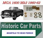 MGA 1600 & DeLuxe Mk 2 1960-62 MG A MANIFOLD TO HEAD Studs Nuts and Washers Kit