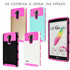 Slim Hybrid Rubber Armor Case Hard Protective Cover For LG G Stylo LS770 G4 Note