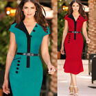 Elegant Summer New Women wiggle Pencil Cocktail Party Sheath Formal Dress B207