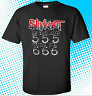 New Slipknot If You Are 555 Then I'm 666 Rock Band Mens Black T-Shirt Size S-3XL image