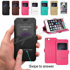 S-VIEW Swipe Flip Leather Case Cover For Apple iPhone 6 Free Screen Guard UK