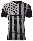ARCHAIC BY AFFLICTION Mens T-Shirt UPRISING American Customs USA FLAG Biker $40