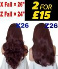 RED AUBURN Long Curly Layered Half Wig Hair Piece Ladies 3/4 Wig Fall Clip in