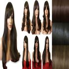 BROWN Long Wavy Straight FULL WOMEN LADIES Full Head HAIR WIG Halloween wigs #4
