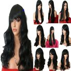 Wig Long Curly Straight Wavy black Women Halloween Fancy dress Ladies Full WIG