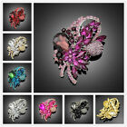 Brooch Lot Fashion Women Purple Crystal Wedding Party Brooch pins Christmas Gift