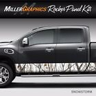 Camo Snowstorm Rocker Panel Graphic Decal Wrap Kit Truck Large 12 x 30 feet