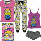 Ladies Pj Set Women Minion Pyjamas Fleece Girls Shortset Tshirt Leggings Primark