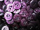 Small 15mm 24L Purple Flower Pattern Baby Children Quality 2 Hole Buttons (Z113)