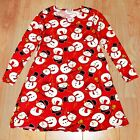 Ladies Girls Christmas Dress Kids Mother Daughter Dresses Xmas Santa Outfit New