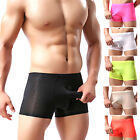 Newly Fashion mens underwear silk boxer U convex pouch shorts briefs tight pants