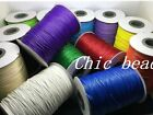 NEW 10/180Yards 1mm DIY Jewelry Waxed Cotton Cord many colors Lengths Available