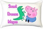 Peppa Pig George Kids Childrens Personalised Pillow Case Childrens Bedroom Gift