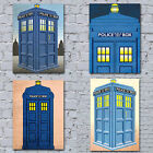 DOCTOR WHO style CANVAS ART PRINTS DR.WHO - Vintage Police Box - Wall + UK ONLY