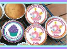 24 PERSONALISED 2nd BIRTHDAY PINK DESIGN 1 CUPCAKE TOPPER RICE, WAFER or ICING