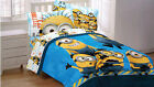Despicable Me Minions Sheet Set- Boy Girls Kid Bedroom Pillowcase Flat Fitted
