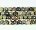 """Gorgeous 8mm/10mm Silver Leaf Gemstone Round Ball Loose Beads 15.5"""""""