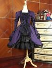 Lolita Victorian Gothic Steampunk Cosplay Princess Dress Gown Punk Costume 233