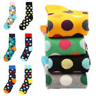Women's Men's Modish Multi-Color Polka Dots Casual Cotton In Tube Dress Socks