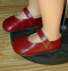 "Masterpiece Burgandy Doll Shoes Fits Up To 42"" Dolls, 5 3/4 Long x 2 1 1/2 Wide"