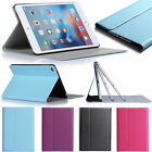 Leather Slim Flip Case Stand Magnetic Smart Cover For New Apple iPad Mini 4+Film