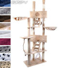 Cat Kitten Scratch Post Tree Sisal Climbing Excercise Activity Centre Toy 7ft