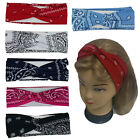 Bandana Print Headband Women's Yoga Hair Wrap Paisley Twisted 3
