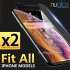 iPhone X 8 7 6S Plus - 2X Genuine NUGLAS Tempered Glass Screen Protector Apple