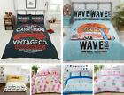 Funky Teenagers Quilt Duvet Cover & Pillowcase Bedding Bed Set Kids Pizza Gift