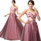 HOT Vintage Strapless Long Formal Wedding Gown Bridesmaid Masquerade Party Dress