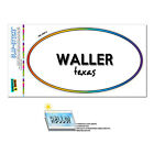 Rainbow Euro Oval Window Bumper Laminated Sticker Texas TX City State Ver - Zap