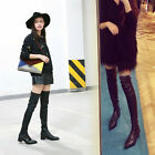 Brand Women's Over Knee High Boot Slim Flats Long Thigh Stretch boot Shoes