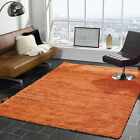 PLAIN ORANGE NORDIC CARIBOO LARGE MEDIUM SMALL HIGH QUALITY 5cm PILE SHAGGY RUGS